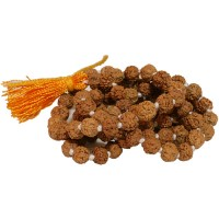 Five-faced(Mukhi) Rudraksha Mala(108 plus one) 6-7mm